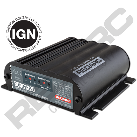 redarc bcdc 1220 ign battery charger