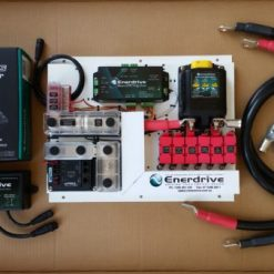 Enerdrive Lithium Ion Installation Kit Mounted on a Aluminium Power Coated Plate.
