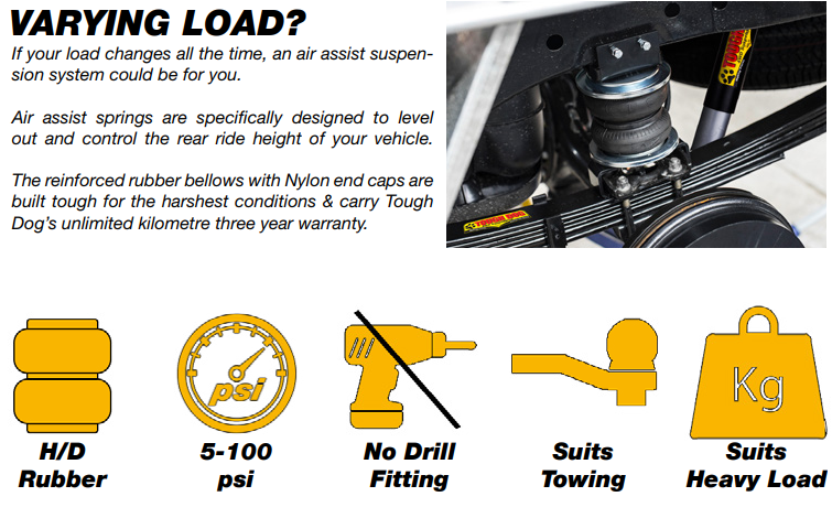 tough dog air assist air bag system