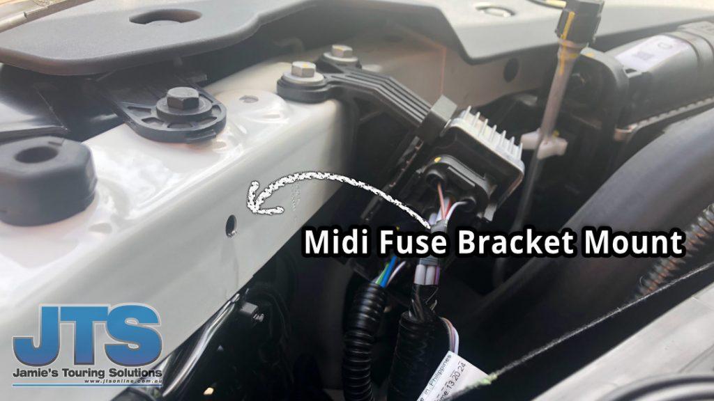 Ford Ranger Midi Fuse Mount location
