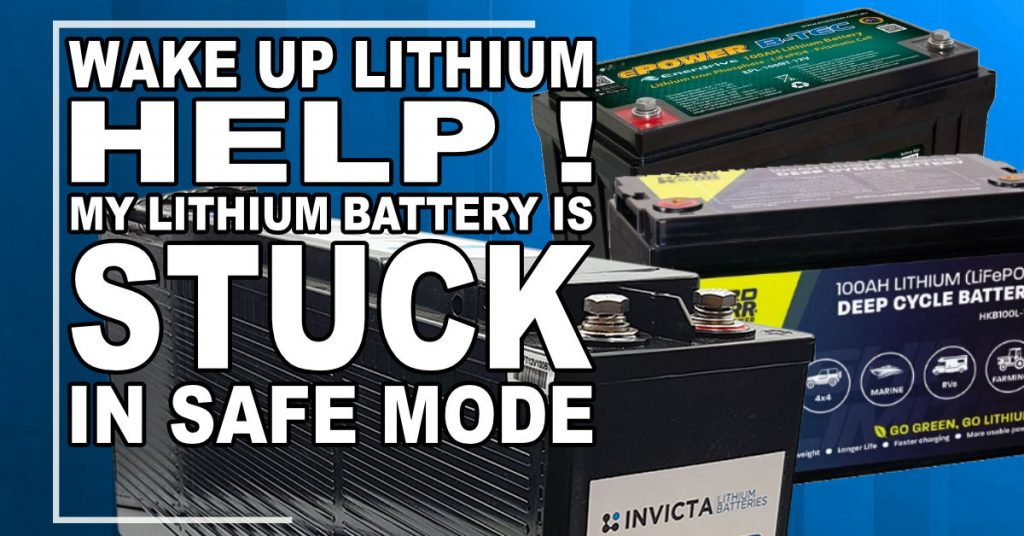 lithium battery in safe mode